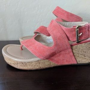 Donald J Pliner Alma Kid Suede Wedge Sandal Sz 8.5